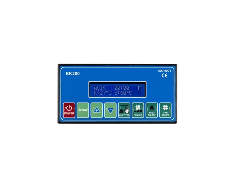 EK200 Stokerli̇ Kazan Kontrol Ci̇hazı - 2x16 LCD Ekran & Otomatik Tuş Takımı