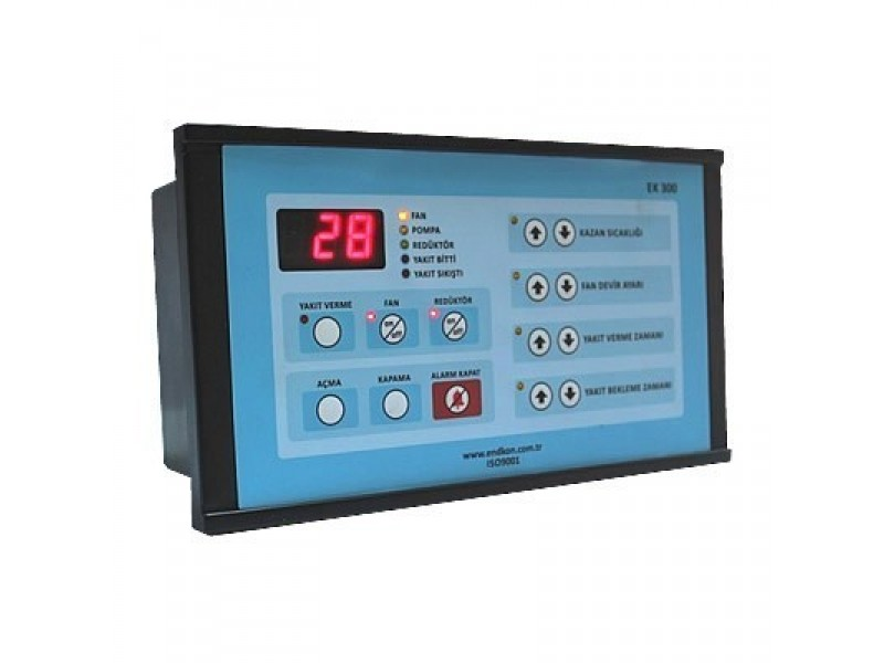 EK300 Stokerli̇ Kazan Kontrol Ci̇hazı - 3 Haneli Geniş Display Ekranlı